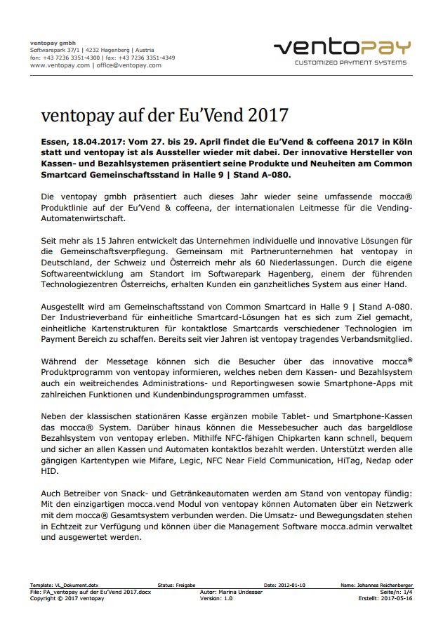 PA_ventopay auf der EuVend 2017