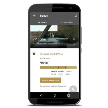 mocca.loyalty Bonuspunkte in der App