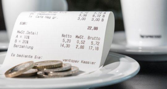 Receipt for receipt issuing obligation, cash registers duty, GoBD and KassenSichV
