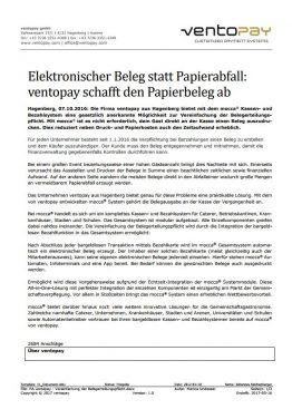 Elektronischer Beleg statt Papierabfall