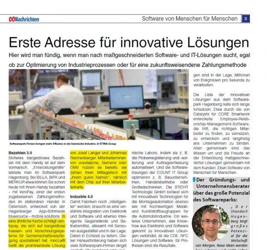First address for innovative solutions in OÖ Nachrichten