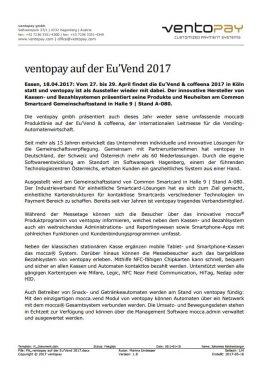 ventopay auf der Eu'Vend 2017