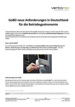 Whitepaper ventopay - Informationen zur GoBD 2017