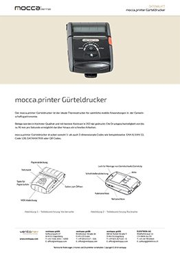 Datenblatt mocca.printer Gürteldrucker