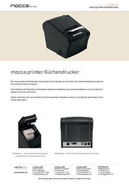 Datenblatt mocca.printer Küchendrucker