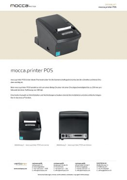 Datenblatt mocca.printer POS