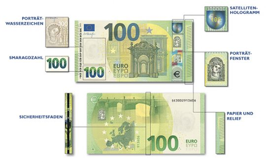 The new 100 Euro banknote © OeNB