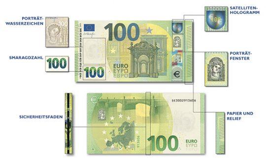 Die neue 100-Euro-Banknote © OeNB
