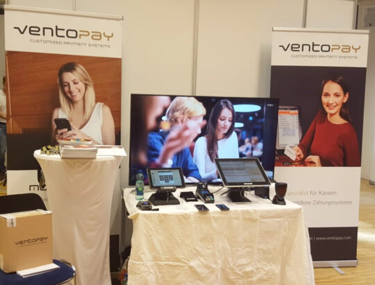 Booth of ventopay at the FH>>next 2019