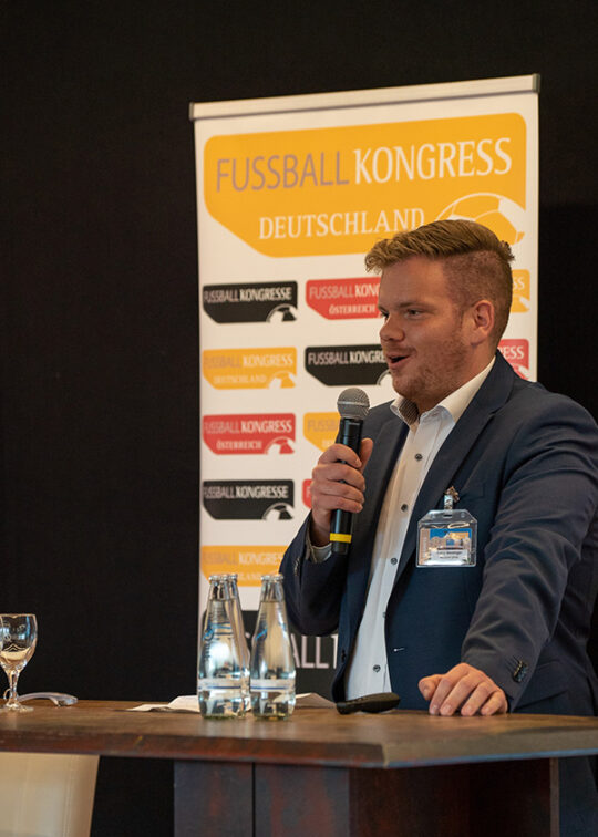 Franz Weidinger beim Fussball Kongress Deutschland 2019 (c) Fussball Kongress