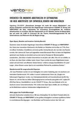 Pressaussendung Spatenstich_COUNT IT und ventopay_29.10.2019