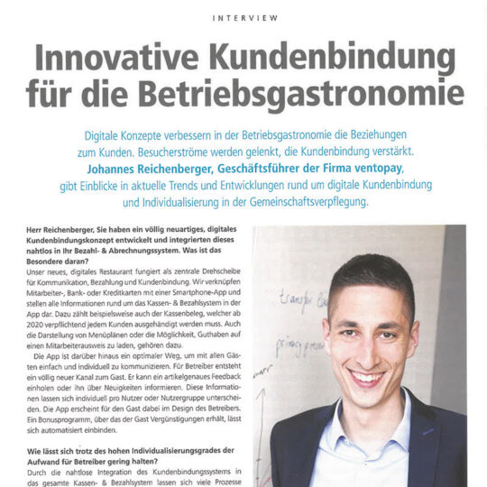 Interview Catering Management Digitalisierung in der Großküche