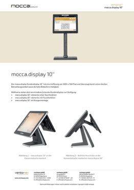 Datenblatt mocca.display Kundendisplay 10''
