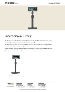 Datenblatt mocca.display Kundendisplay 2-zeilig