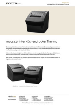 Datenblatt mocca.printer Küchendrucker Thermo