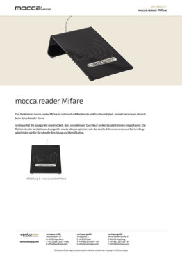 Datenblatt mocca.reader Mifare