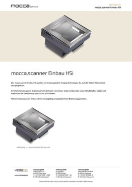 Datenblatt mocca.scanner Einbau HSi