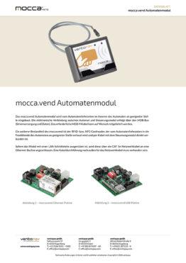 Datenblatt mocca.vend Automatenmodul