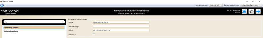 Kundenbindung mit mocca: Kontaktinformationen
