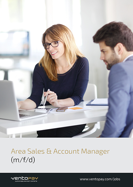 Jobausschreibung Area Sales & Account Manager