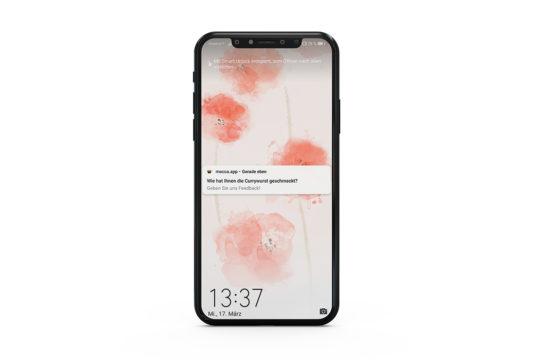 Push-Notifications am Smartphone des Kunden