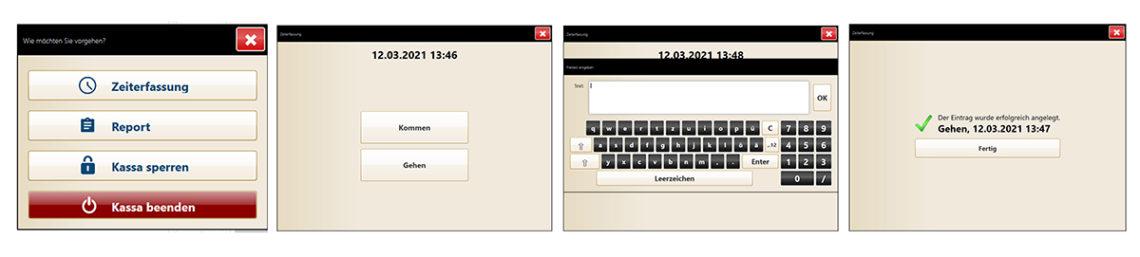Zeiterfassung mit mocca.touch: Arbeitsende